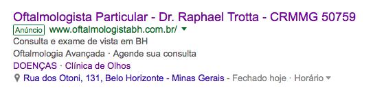 médico no google