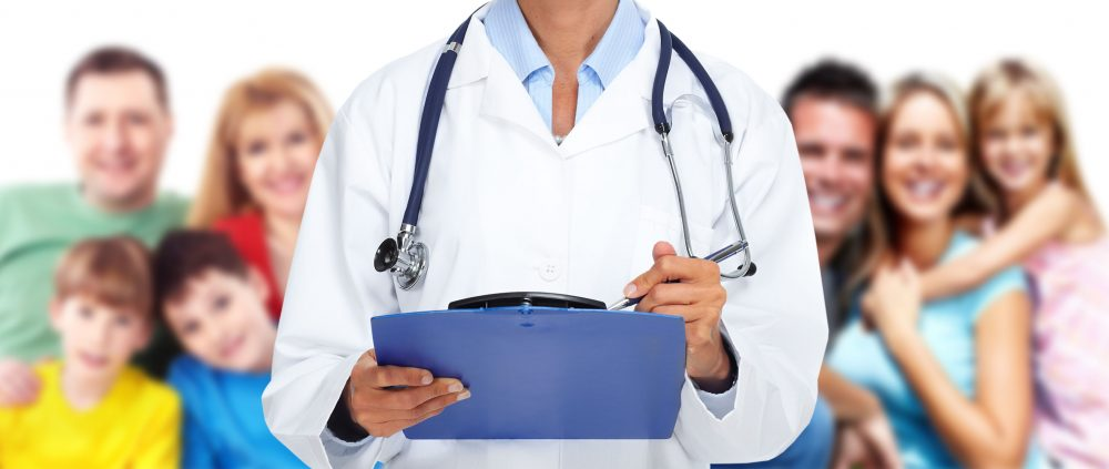 46628419 - hands of family doctor woman. health care banner background.